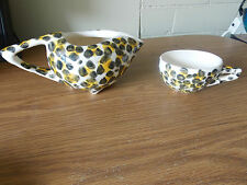 Vintage Antique Collectable Retro Leopard Print Coffee Cup and Jug