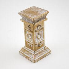 Wholesale Lot of 12 Pcs Gold Mini Ornate Stone Pedestal Pillar
