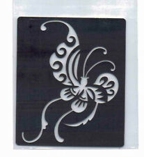 Metal/stencil/oblong / oriental/butterfly/design / emboss/new/nice