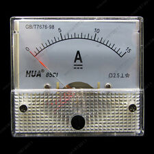 DC 15A Analog Ammeter Panel AMP Current Meter 85C1 0-15A DC Doesn't Need Shunt