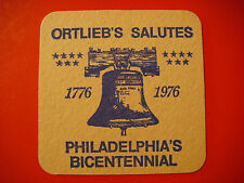 Coaster ~ Henry R ORTLIEB Brewing Bicentennial Cans; Philadelphia, PA Since 1869