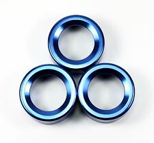 NEW GCS Subaru BRZ Blue Anodized 3 PC Climate Control Cover Knobs FRS GT86