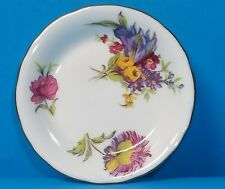 ROYAL CHELSEA SMALL 3 INCH PLATE FLORAL WITH GOLD TRIM