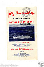 Vintage Cruise Ship Brochure CANADIAN PACIFIC 1952 Steamship SS PRINCESS HELENE