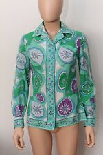 EMILIO PUCCI FLORENCE-ITALY 100% COTON 10 LORD+TAYLOR SHIRT BLOUSE
