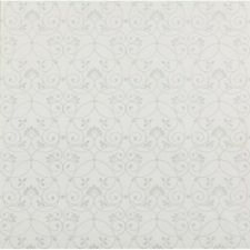 Wallpaper Designer Silver Glitter Scroll Trellis on White