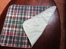 """72"""" x 34""""  Washable Bed Pad Underpad Waterproof Bottom Full body Cover Plaid 6ft"""