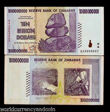 ZIMBABWE 10,000,000,000 10 BILLION DOLLARS P85 2008 CURRENCY MONEY BANK NOTE