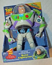 Toy Story Deluxe Electronic BUZZ LIGHTYEAR Talking Action Figure!