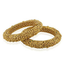 DISHI Fashion Antique Jewelry Traditional Ethnic Golden Bangles kadas size 2-4