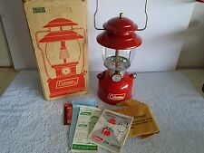 Vintage 7/68 Coleman 200A  Red Lantern With Box & Papers Collector Grade Beauty