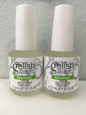 (2) TWO Gelish Harmony Soak Off Gel Polish Nourish Cuticle Oil 15 ml .5 fl oz