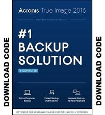Acronis True Image 2016 1 Computer PC Download Product Keycode to ebay mail box