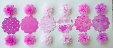 """Lot 50 ORIGAMI FLOWER 3"""" Wedding Decor Photo Booth Backdrop Party - Pink shade"""