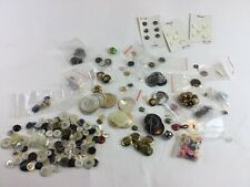 Vintage  And Modern Button Lot Mixed buttons Estate sale find