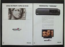 F145 - Advertising Pubblicità - 1992 - PHILIPS VIDEOREGISTRATORE MATCHLINE VR813