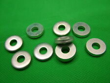 Extra thick flat spacer washers, steel, M6, 3mm thick, pack of 10, zinc plated