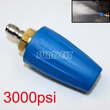 """3000PSI/207BAR Pressure Washer Blue Rotating Turbo Nozzle With 1/4"""" Quick Plug"""