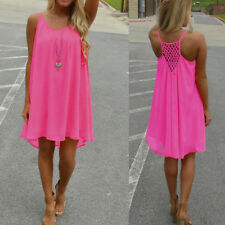 Women Summer Chiffon Beach Swimwear Bikini Cover Up Kaftan Ladies Mini Sun Dress