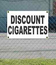 2x3 DISCOUNT CIGARETTES Black & White Banner Sign NEW Discount Size & Price