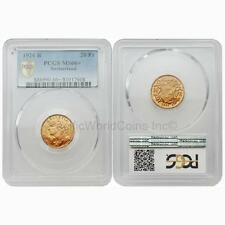 Switzerland 1926 B 20 Francs Gold PCGS MS66+