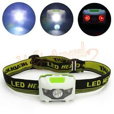 R3+2LED CREE Waterproof 4Mode 1200Lumen Camping Hiking Headlight Head Torch+Band