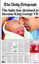 25 July 2013 Daily Telegraph Newspaper William & Kate's Royal Baby Prince George