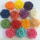 Edible 3D Roses Cake, Cup Cake Toppers x 12 Mix Colors Or Choose Your Own Color