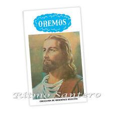 OREMOS Libro Coleccion de Oraciones Espiritistas Dios Jesus Cristo 120 paginas
