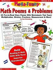 Mega-Funny Math Poems and Problems: Gr. 3-6 by Dan Greenberg (1999, Paperback)