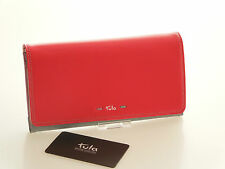 Tula by Radley Brand New Violet Large Matinee Purse In Red Leather  RRP £59.00