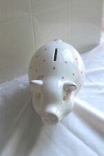 Tiffany & Co Earthenware Piggy Bank- Baby Girl Gift, PINK piggy bank