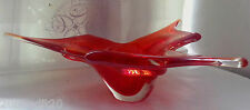 1960's CHALET MURANO FREEFORM CENTERPIECE RED FLAME BLOWN ART GLASS VASE