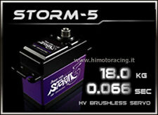 POWER HD STORM-5 SERVO DIGITALE 18.0 kg 0.06 sec BRUSHLESS INGRANAGGI IN TITANIO