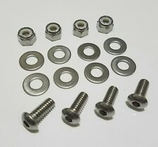 4 Stainless Steel Motorcycle License Plate Frame Bolts Set Tag Fastener Screws