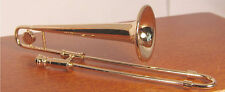 Dollhouse Miniature Musical Instrument Metal Trombone Miniature
