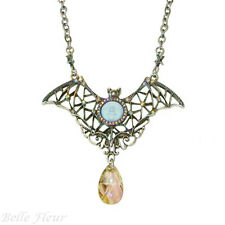 Kirks Folly Bewitching Empress Bat Seaview Moon & Crystal Necklace Lavender Moon