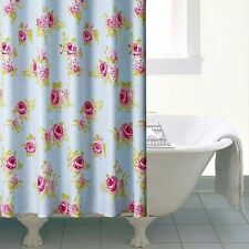 Shabby Chic Duck Egg Floral English Vintage Pink Green Rose Shower Curtain