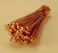"1 "" 26GA SOLID COPPER  HEAD PINS 50 PCS. MADE IN USA"