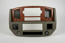 2006-2008 Dodge Ram 1500 2500 3500 Radio Climate Combo Trim Bezel w/ 4WD Switch