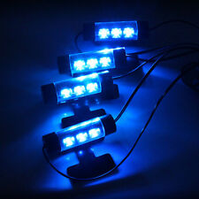 4pc 3LED Car Charge Interior Accessories Atmosphere Lamp Floor Decorative Light