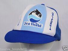 VTG Seaworld San Diego Orca Killer Whale Snapback Trucker Hat Mesh Cap Hipster