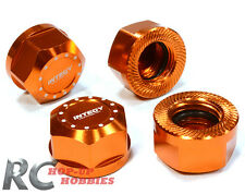 Integy C26141ORANGE 4 Aluminum 17mm Hex Wheel Nut for Traxxas T-Maxx Revo Summit