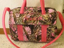 Pink True Timber Camo custom handmade Diaper Bag by EMIJANE free embroidery