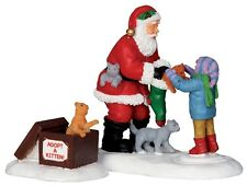 LEMAX 22045 S/2 Santa With kittens
