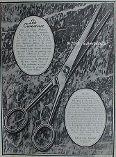 PUBLICITE PETROLE HAHN LES CISEAUX SOLUTION POUR CHEVEUX DE 1926 FRENCH AD PUB