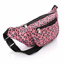 Pink Animal Leopard Print Bum Bag Fanny Pack Festival Holiday Money Accessories