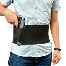 Tactical Elastic Belly Band Waist Pistol Gun Holster & 2 Magzine Pouches New