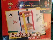 """Tim Allen Signature Stuff """"Birdbath/Birdfeeder"""" Craft Kit!  New Sealed"""