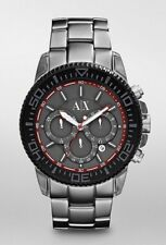 ARMANI EXCHANGE MEN CHRONO ALUMINUM WATCH JAPAN QUARTZ MVT AX1208 AUTHENTIC